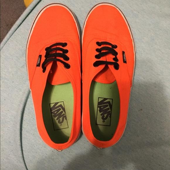 7fd13dc683 Bright orange Vans Size 7.5. M 5c9fe9a62f4831e75c3d104f